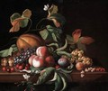 Still Life Of Fruit On A Ledge - John Setterington