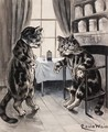 In The Doctor's Consulting Room - Louis Wain