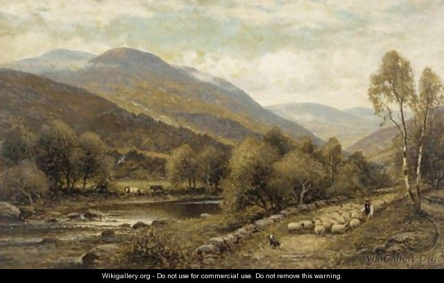 Herding The Sheep - Alfred Glendening