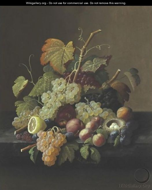 Still Life With Fruit 9 - Severin Roesen