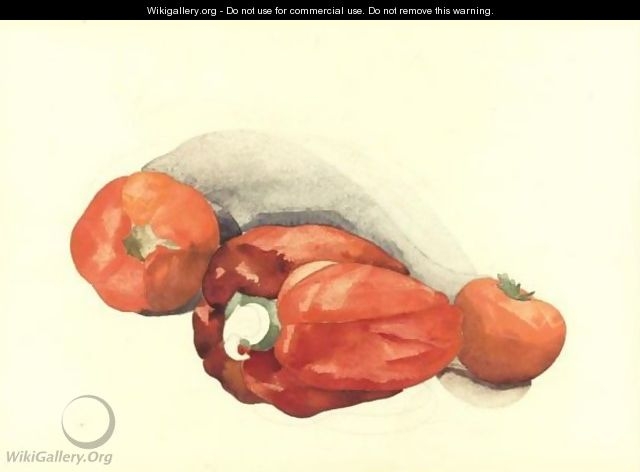 Pepper And Tomatoes - Charles Demuth