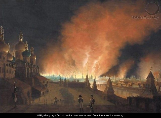 The Burning Of Moscow In 1812 - Russian School