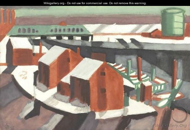 Winter, Hackensack River - Oscar Bluemner