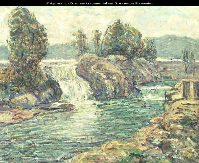 The Waterfall - Ernest Lawson