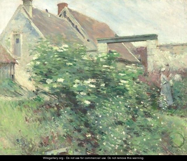 Garden At Giverny - Theodore Robinson