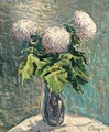 Still Life With White Chrysanthemums - Nikolai Aleksandrovich Tarkhov