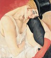 Woman In Top Hat - Boris Dmitrievich Grigoriev