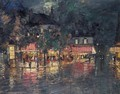 Parisian Street At Night - Konstantin Alexeievitch Korovin