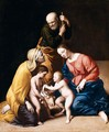 The Holy Family With The Infant Saint John The Baptist And Saint Elizabeth 2 - Giovanni Battista Salvi, Il Sassoferrato
