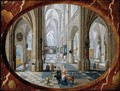 The Interior Of A Gothic Church, Looking East - Pieter the Younger Neefs