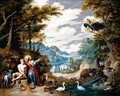 The Creation Of Adam In The Garden Of Eden - Jan, the Younger Brueghel