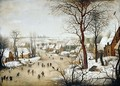 Winter Landscape With A Bird Trap - (after) Pieter The Younger Brueghel
