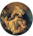 Saint Catherine Of Siena With Two Putti - (after) Cortona, Pietro da (Berrettini)