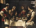 The Supper At Emmaus - Bolognese School