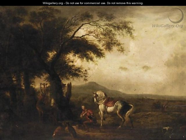 A Landscape With Saint Hubert - (after) Philips Wouwerman