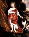 Portrait Of A Boy, Said To Be William Somerville, With His Pet Dog - (after) Gerard Soest