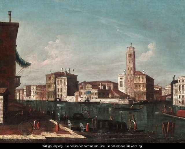 Venice, A View Of The Grand Canal At Cannaregio - Venetian School