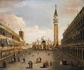 Venice, A View Of Piazza San Marco - Venetian School
