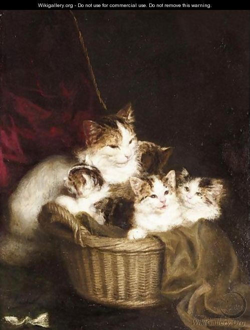 A Family Of Cats - Louis Eugene Lambert