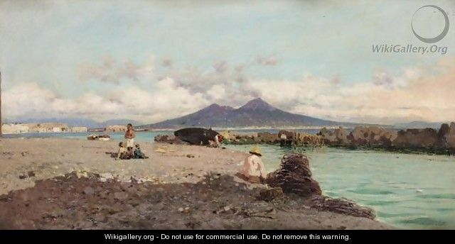 The Bay Of Naples - Giuseppe Laezza