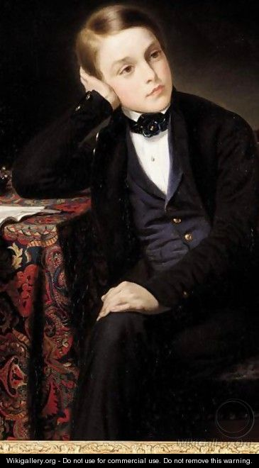 Portrait Of A Young Gentleman - (after) Franz Xaver Winterhalter