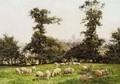 Sheep Grazing In A Field - William Baptiste Baird
