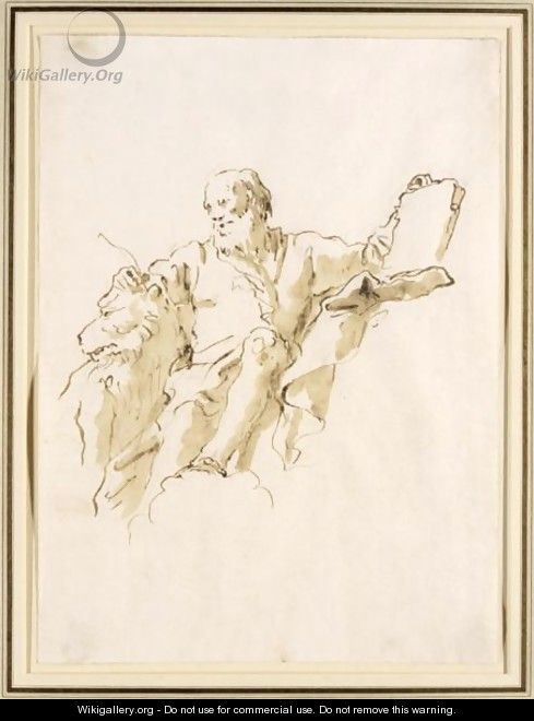 St. Mark The Evangelist - Giovanni Domenico Tiepolo