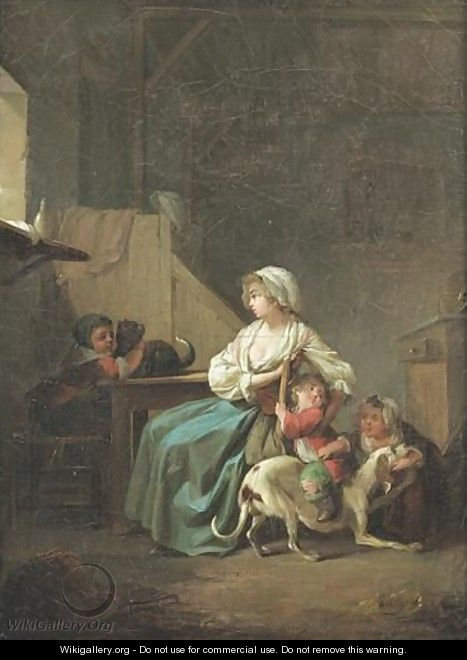 Une Mere Et Ses Enfants Dans Sa Cuisine Louis-Leopold Boilly Mother And Her Children In A Kitchen - Louis Léopold Boilly