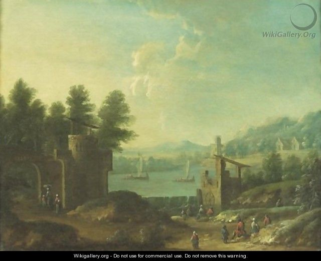 Landscape With A Mill - Flemish School
