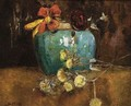 A Still Life With Flowers In A Ginger Bowl - Sientje Mesdag Van Houten