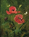 Still Life Of Poppies - Olaf August Hermansen