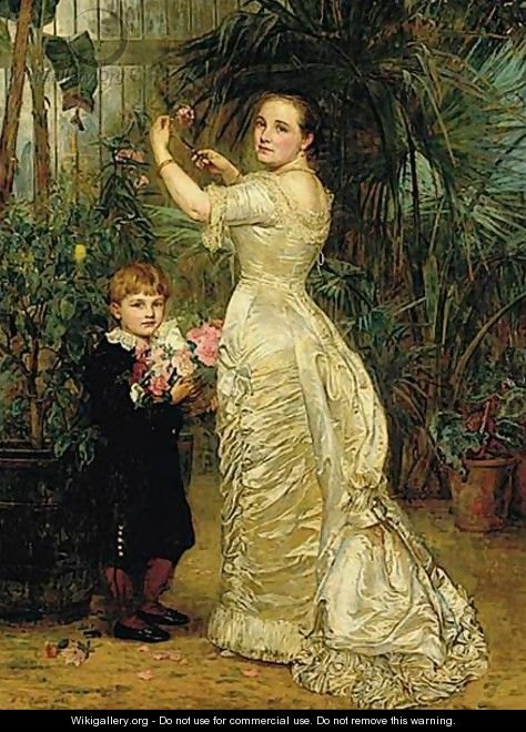 Portrait Of Elizabeth Cavendish And Her Son Tyrell - Mary Lemon Waller