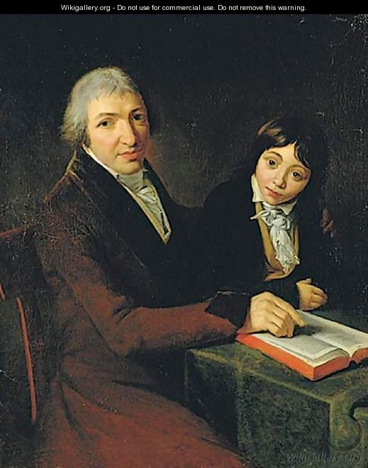 Portrait Of M. Maubach And His Son - (after) David, Jacques Louis