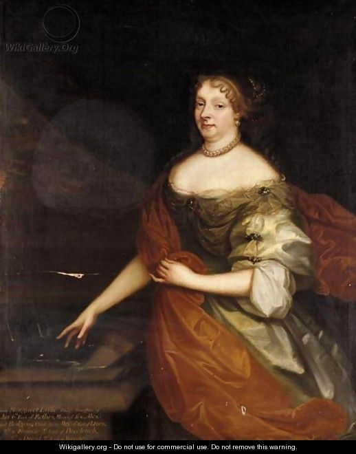 Portrait Of Lady Margaret Leslie, Daughter Of John, 6th Earl Of Rothes - (after) Sir Peter Lely