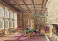 Interior Of A Drawing Room In A Cornish House - English School