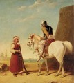 Two Mamluk Soldiers Outside A Walled Town - Abraham Cooper