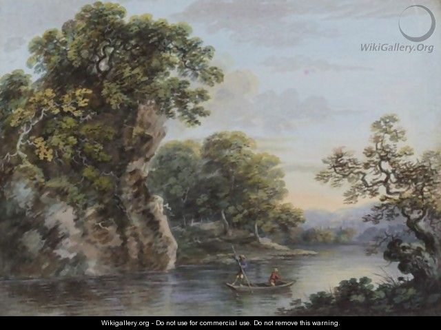 Landscape with a boat - (after) John Inigo Richards