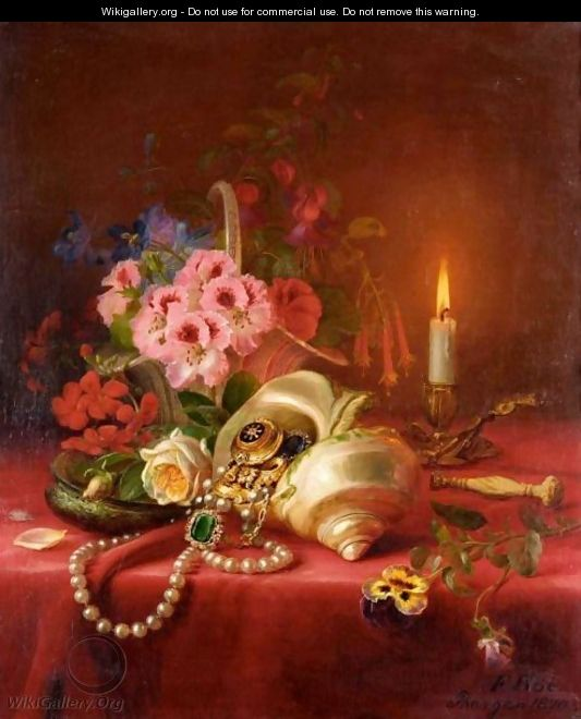 Still Life With Conch Shell And Jewels - Franz Boe