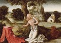 Landscape With The Penitent Saint Jerome - (after) Joachim Patenier (Patinir)