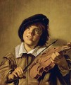 Boy Playing A Violin - (after) Frans Hals