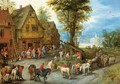 A Village Street With The Holy Family Arriving At An Inn - Jan, the Younger Brueghel
