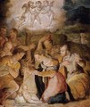 The Nativity With The Adoration Of The Shepherds - (after) Giorgio Vasari