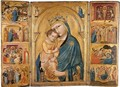 The Madonna And Child With Saints Clare And Francis - Paduan School