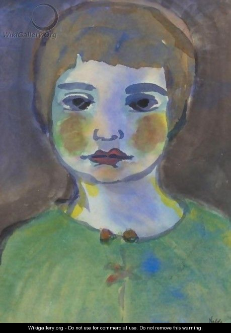 Bildnis Einer Frau In Gruner Bluse (Portrait Of A Woman In A Green Blouse) - Emil Nolde