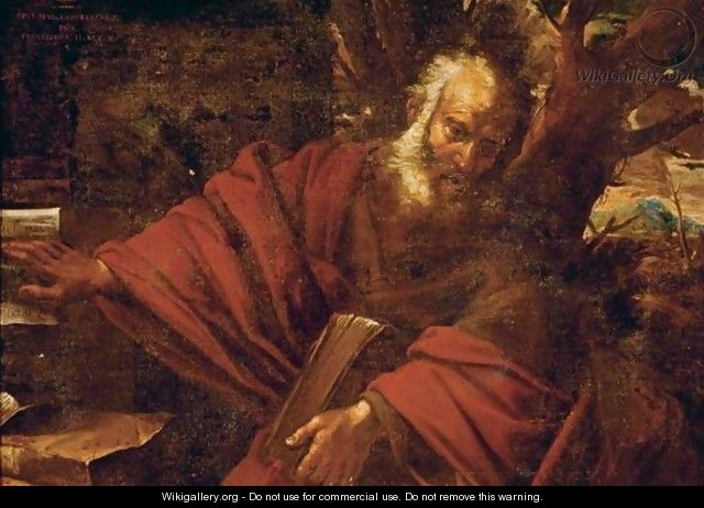 A Bearded Saint Or Prophet In A Landscape, Probably Saint Jerome - (after) Pier Francesco Mola