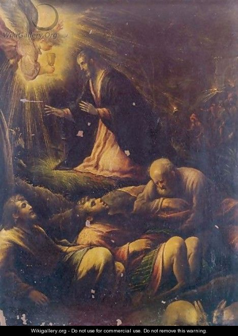 The Agony In The Garden - (after) Francesco Da Ponte, Called Francesco Bassano
