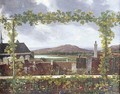 Landscape With A View Of Rooftops And Grapevine - Jean-Joseph-Xavier Bidauld
