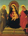 Madonna And Child Enthroned With Saints - (after) Pietro (Lo Spagna) Giovanni Di