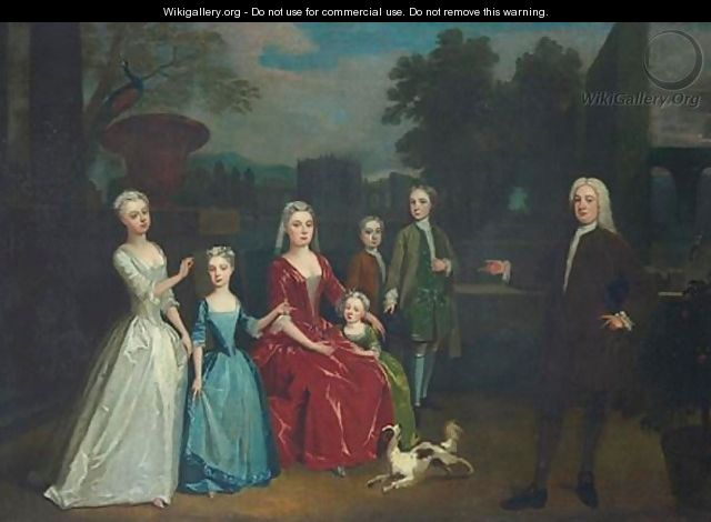 Portrait Of A Family - (after) Charles Phillips