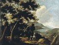 Travelers In An Extensive Landscape A Pair Of Paintings - (after) Pandolfo Reschi